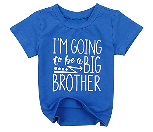 Baby Boys I'm Going to Be A Big Brother T-Shirt Short Sleeve Sibling Shirt (3-4 Years/Tag110, Dark Blue)
