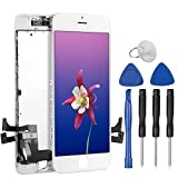 Uslansis for iPhone 8 Screen Replacement, 2020 Upgraded 3D Touch Screen Replacement for iPhone 8 A1863 |A1905 |A1906, LCD Assembly Display with Full Repair Kits (White)