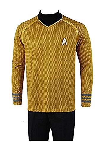 Fuman - Uniforme del Capitn Kirk, camiseta Cosplay, disfraz amarillo. amarillo XL