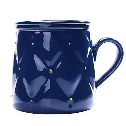 Taza de café Taza de té Taza de cerámica Taza de cerámica Copa Personal de té de la Taza de té de la Taza de la Bebida de la Taza del índigo de la Taza de la Taza del Agua de la Taza de Agua ZDWN