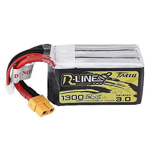 KINGDUO R-Line Versión 3.0 22.2V 1300mAh 120C 6S1P Lipo Batería XT60 Enchufe para iFlight Nazgul5 227mm 4S 5 Inch FPV Racing Drone