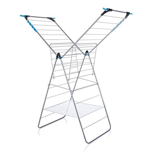 Minky Tendedero para Interiores con Espacio de Secado de 24 m, Metal, Blanco