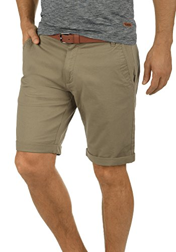!Solid Montijo Chino Shorts Bermuda Kurze Hose Mit Gürtel Aus Stretch-Material Regular Fit, Größe:L, Farbe:Dune (5409)