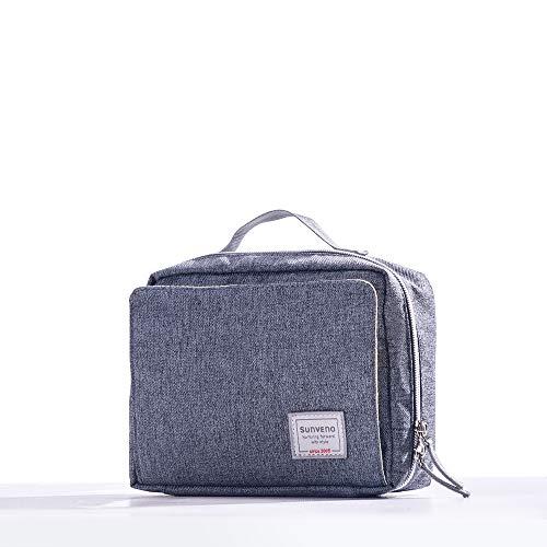 SUNVENO Windeltasche wasserdicht wickel umhängetasche Tasche windeltasche für unterwegs Windel tasche windeltasche stoffwindeln(L, Pure Grau)