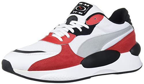 PUMA RS 9.8 Sneaker, White-High Risk Red, 11.5 M US