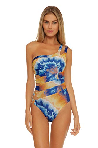 Becca by Rebecca Virtue Women's Naomi Reversible Asymmetrical One Piece Swimsuit Multi M