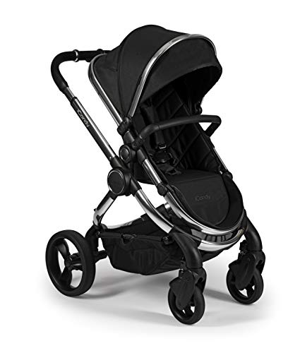 iCandy Peach Pushchair and Carrycot Set, Chrome Black Twill