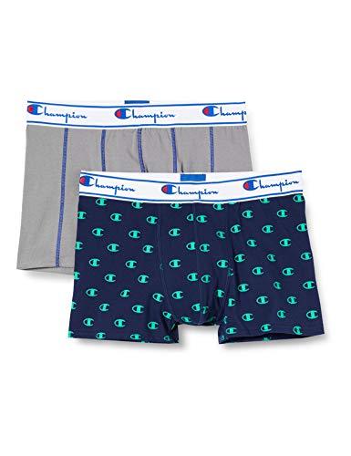 Champion Herren Boxer Coton Mix X2 Boxershorts, Mehrfarbig (Set Urban 9ft), XL (2er Pack)