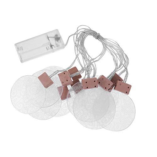PIXNOR 1 Ensemble d'ornement de Lampe décorative Acrylique Belle chaîne de lumière LED (Blanc)