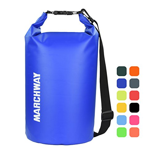 Floating Waterproof Dry Bag Backpack 5L/10L/20L/30L/40L, Roll Top Sack Keeps Gear Dry Pack for Kayaking Rafting Boating Swimming Camping Hiking Beach Fishing Skiing Snowboarding (Dark Blue, 20L)