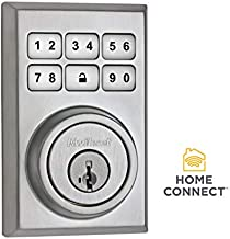 Kwikset 99100-012-R 910 Contemporary SmartCode Electronic Deadbolt Featuring SmartKey and Z-Wave Technology in Satin Chrome (Renewed)