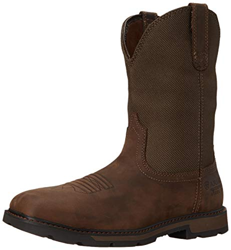 Ariat Mens Groundbreaker Sq Toe H20 Steel Toe Clogs/Shoes 9.5 D/Medium(Width) Palm Brown