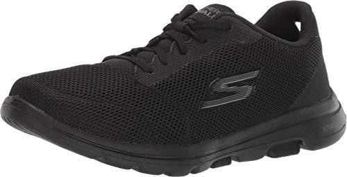 Skechers Damen Go Walk 5 - Lucky Sneaker, Schwarz (Black Textile/Trim Bbk), 43 EU