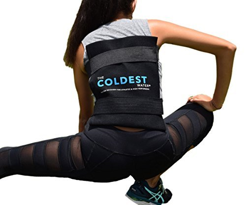 The Coldest Ice Pack Standard Large 11quot x 14quot Flexible Gel and Wrap with Elastic Straps Specific for Cold Therapy  for Back Leg Sprains Muscle Pain Flexi Bruises Injuries  11quot x 14quot