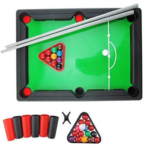 Bordspellen voor kinderen Mini Biljart Snooker Toy Set Home Party Games Groen