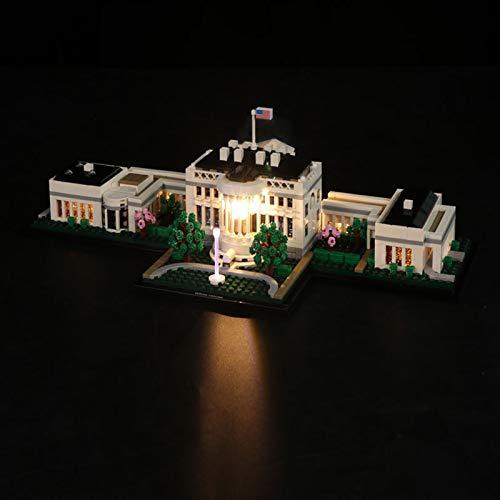 LED Beleuchtungsset für Lego Architecture das Weiße Haus, Beleuchtung Licht Kompatibel mit Lego 21054 (Lego-Modell Nicht Enthalten)