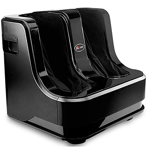 Dr Physio Powerful Electric Leg, Foot and Calf Massager Machine with Vibration for Pain Relief & Relaxation-1022 (Black)