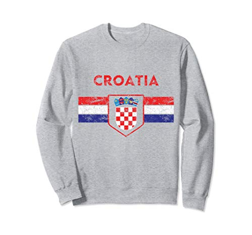 Croatia Soccer Croatian Jersey Shirt Fan Hrvatska Nogomet Sweatshirt