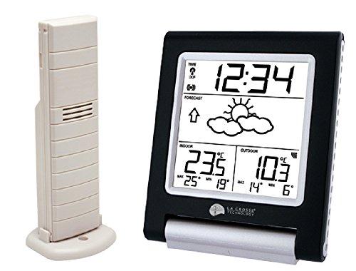 La Crosse Technology WS9135 station météo avec températures intérieure/extérieure - Noir