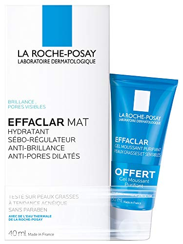 La Roche-Posay Effaclar Mat Seboregulating Moisturizer 40 ml + Effaclar Purifying Foam Gel 50 ml Free
