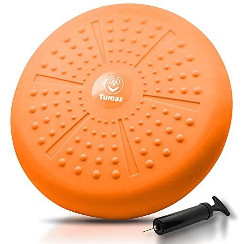 Tumaz Balancekissen/Ballsitzkissen Verbesserung der Sitzhaltung-für Physiotherapie Linderung von Rückenschmerzen und zur Kräftigung der Rumpfmuskulatur[Extra dick Pumpe inklusive]