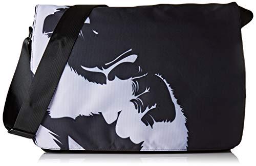 Luxburg - Borsa a tracolla per college daily bag da 17,3 pollici, motivo: Chimpanzé pensante