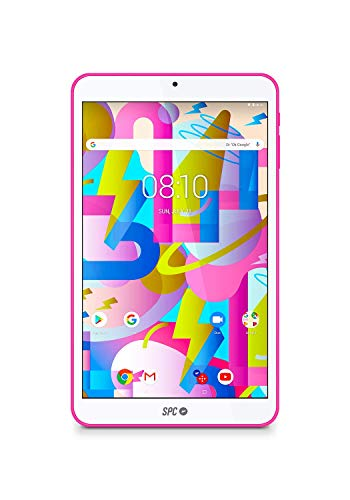 SPC Lightyear - Tablet android con pantalla IPS de 8 pulgadas, memoria interna 16GB, RAM 2GB, WiFi y Bluetooth – Color Rosa