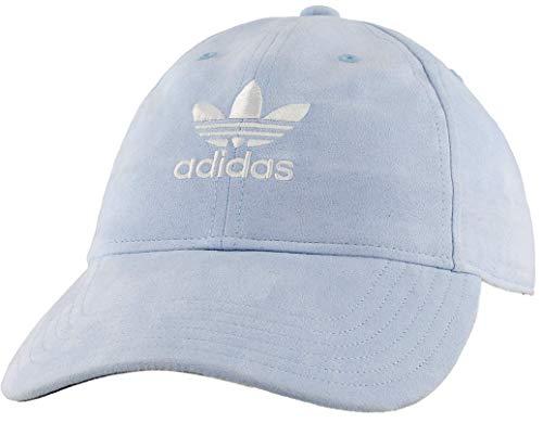 adidas Originals Women's Relaxed Plus Strapback Cap, Aero Blue Suede/White, ONE SIZE