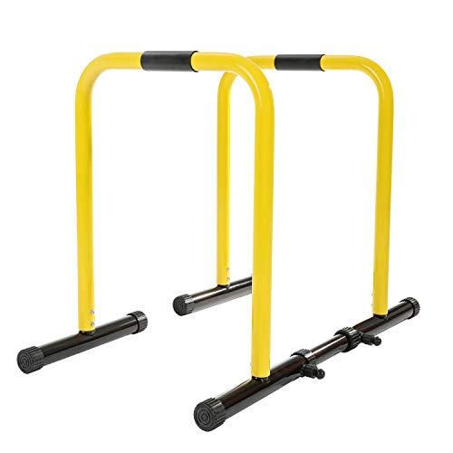 RELIFE REBUILD YOUR LIFE Dip Station Regolabile Parallele Calisthenics Parallel Bars Parallettes Push up Dip Stand Fitness parallettes Heavy Duty Libera Installazione