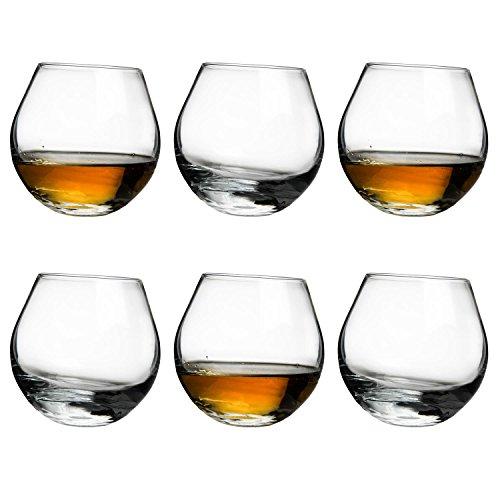 Urban Bar Rocking Whisky Glass 30cl - Box of 6 - Rolling Whiskey Rocks Tumbler