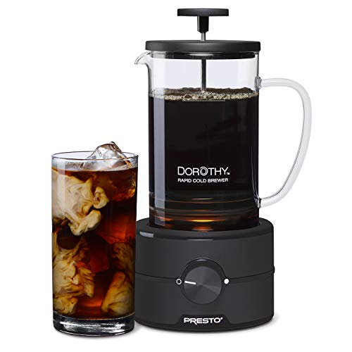 Presto 02937 Dorothy™ Electric Rapid Cold Brewer - Cold brew at home in 15 minutes - No more waiting 12 to 24 hours.