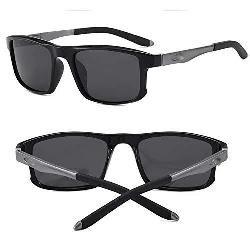KHXJYC Gafas De Sol para Hombre, Gafas Deportivas Al Aire Libre Polarizadas De Aluminio Y Magnesio, Gafas De ConduccióN De PelíCula Amarilla De VisióN Nocturna, Gafas De Sol para Montar,#4