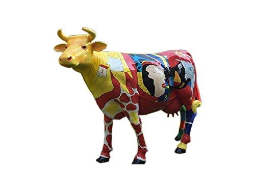 Antikes Wohndesign Lebensgroße Kuh Picasso Style Modern Art Lebensgroße Tierfiguren Abstrackte Bemalung