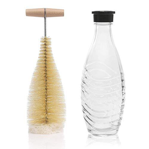 Cepillo de Botellas, Cepillo de Nylon,Cepillo Tetera,Adecuado para Limpiar Botellas, Botellas de Agua, Termos, etc(1 Pezzo)