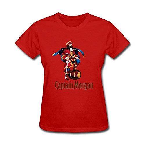 Damen's Captain Morgan Short Sleeve T Shirt Weiß XX-Large