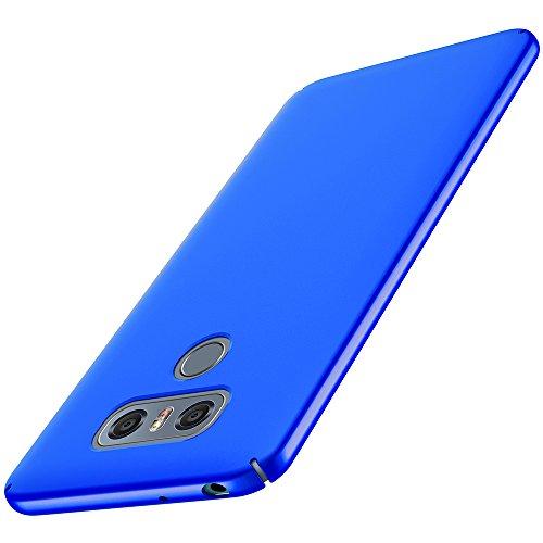 Anccer Cover LG G6 [Serie Colorato] di Gomma Rigida Protezione Da Cadute e Urti LG G6 (Azzurro liscio)