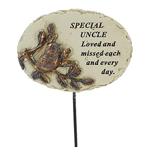 Angraves Special Uncle Love & Missed Robin Bird Memorial Tribute Stick Graveside Plaque
