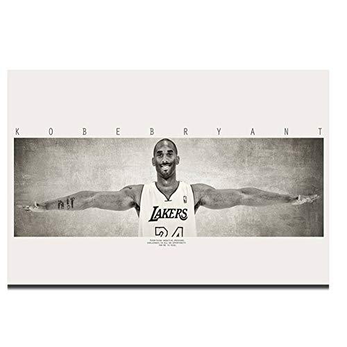 nr Kobe Bryant Wings Basketballspieler MVP Wandkunst Leinwand Malerei Malerei Druck Auf Seide Leinwand Poster Home Decoration-40x120cm Kein Rahmen