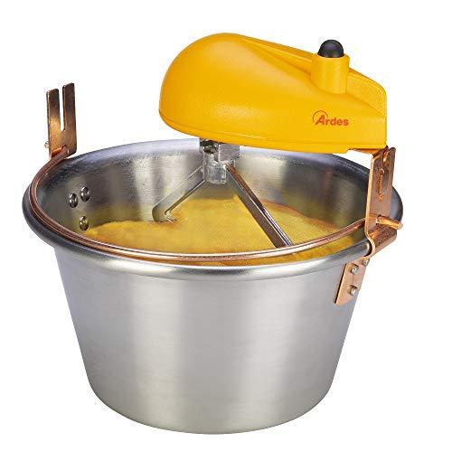 Ardes AR24AM81 Polentinox Elektro-Kessel aus Edelstahl, geeignet für Induktionsherde, für Polenta- und Marmelade, für 8/12 Personen Ø 28 cm für Induktion