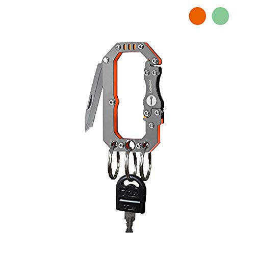 Loowoko Multitool Carabiner Knife Tactical Keychain Clip Hook Survival Gear Tool