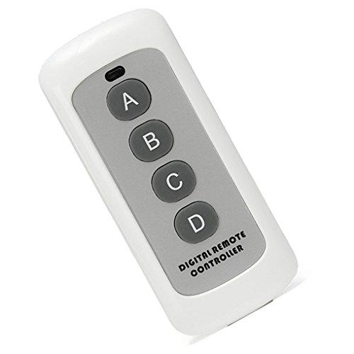 Chowcencen 43Hz 4 botón Clave remota de código EV1527 Interruptor de Control Inteligente Transmisor de RF Wireless Key para el hogar Inteligente Puerta de cochera