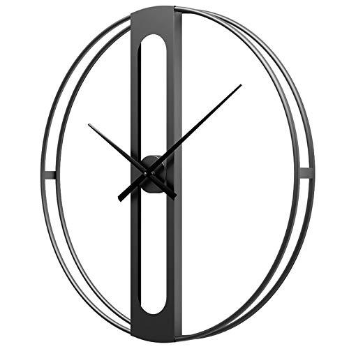 Relojes de Pared Grandes Modernos para Cocina, Minimalista Relojes de Pared, XXL 50cm / 70cm Reloj de Metal Industrial Silencioso para Salón Dormitorio Cocina, Negro,70cm