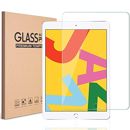 Cheapest Prices! KIQ [2 Pack] iPad 7 10.2 Protective Tempered Glass Screen Protector Cover, Clear, T...
