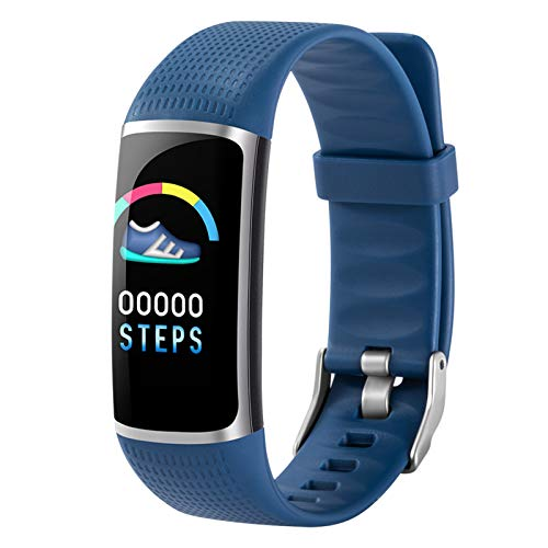 BNMY Reloj Inteligente Mujer Y Hombre, Smartwatch Impermeable IP67 Pulsera Actividad Deportivo con Monitor De Sueño, Pulsómetro, Pantalla Táctil Completa Reloj Fitness para Android Y iOS,Azul