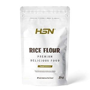 Harina de Arroz de HSN | Rice Flour | Energía Saludable 100% Natural | Formato de Finísima Textura en Polvo | Vegana, Sin Gluten, Sin Lactosa, Sin Soja, Sin Sabor, 3 Kg