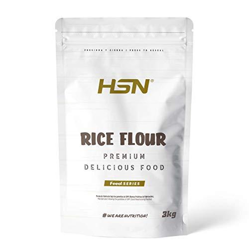 Harina de Arroz de  | Rice Flour | Energía Saludable 100% Natural | Formato de Finísima Textura en Polvo | Vegana, Sin Gluten, Sin Lactosa, Sin Soja, Sin Sabor, 3 Kg