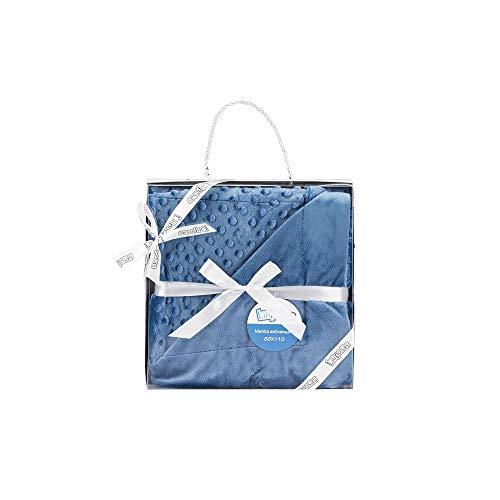 Manta para bebés, 0.80 x 1.10 m Manta para recién Nacidos Mantitas para Bebes Suave y Confortable Cálida niña y niño Mantas para Todas Las Estaciones (Azul Marino)