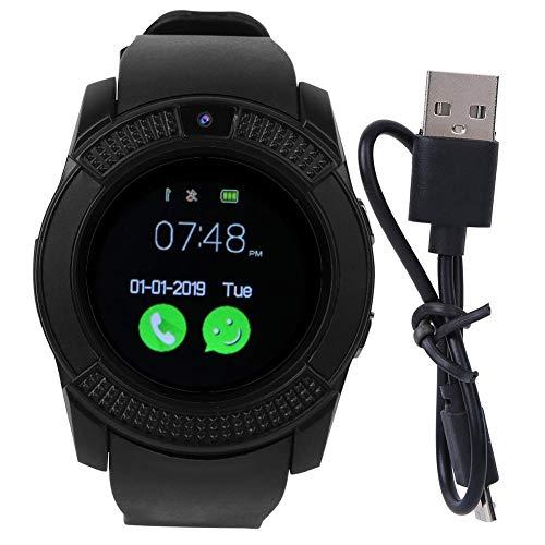 Heitune Pantalla Redonda Paso SmartWatch Pulsera Conteo Tarjeta enchufable Touchable Pulsera de Reloj Deportivo con información impulsar la función (V8 SmartWatch)