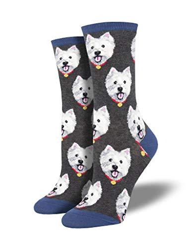 LilyRosa® Socken mit weißem West-Highland-Terrier-Motiv, für Weihnachten