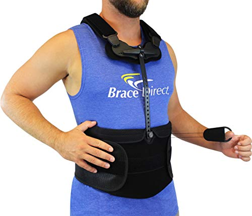 TLSO Thoracic Full Back Brace - PDAC Pain Relief and Straightener for Fractures, Post Op, Herniated Disc, Spinal Trauma, Mild Scoliosis by Brace Align